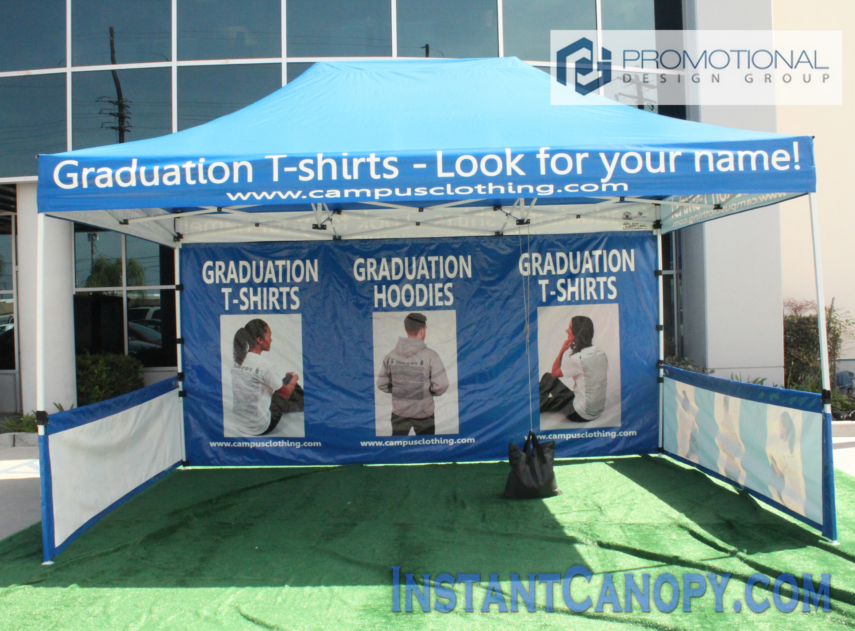 10 X 15 Instant Canopy For Campus Clothing
